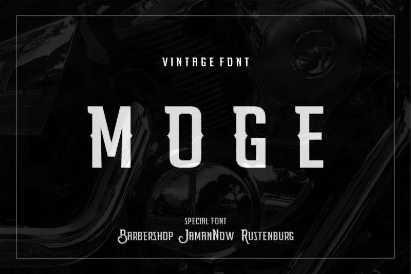 Moge Logo Font in Decorative Fonts