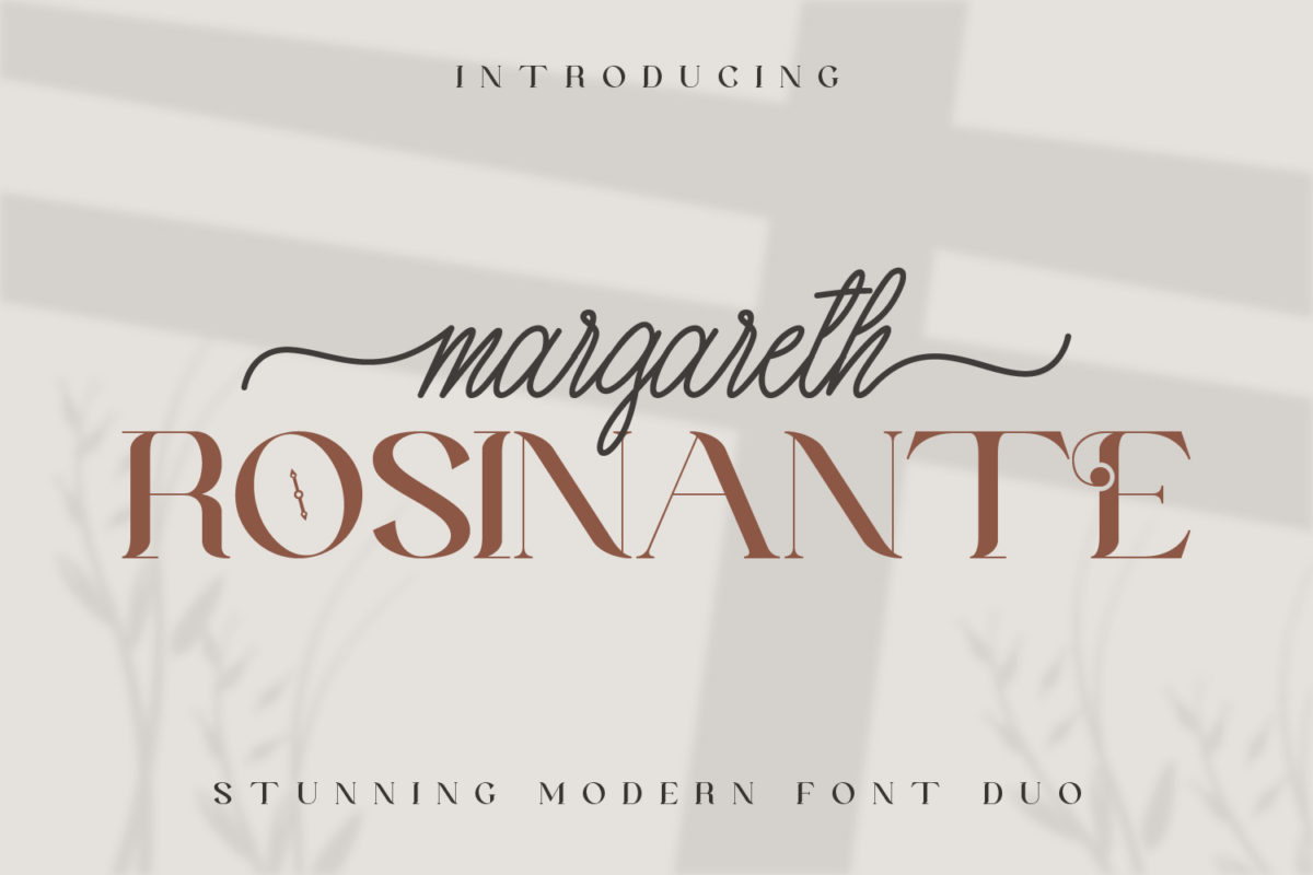 Margareth Rosinante Font Duo in Other Fonts Fonts
