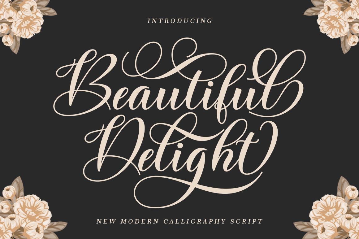 Beautiful Delight in Script Fonts