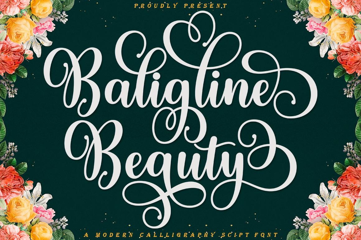 Baligline Beauty in Script Fonts