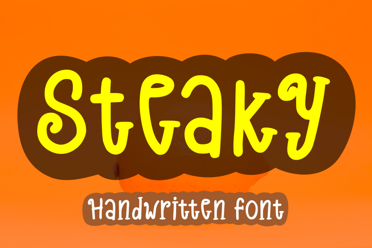 Steaky in Display Fonts