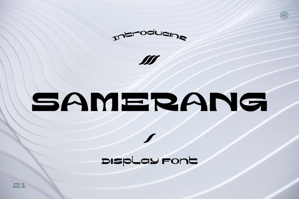 Samerang Display Font in Decorative Fonts
