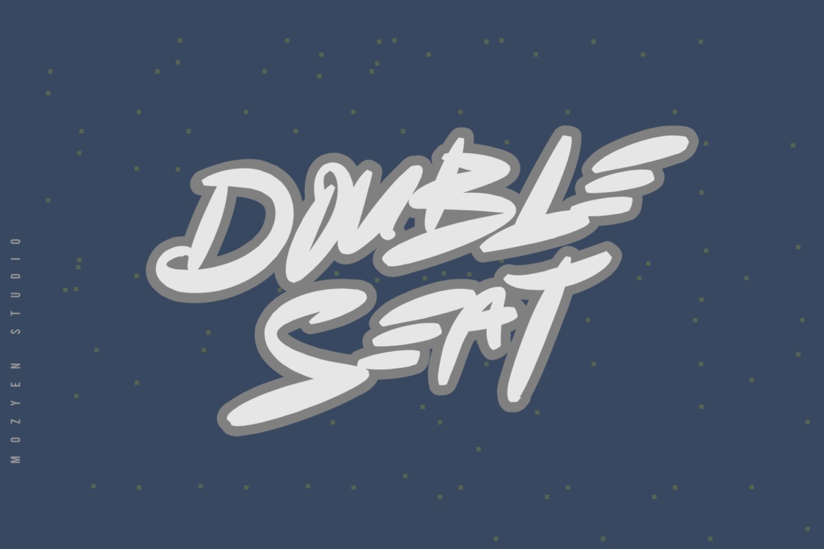 Double Seat in Display Fonts