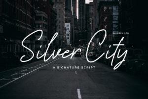 Silver City in Script Fonts