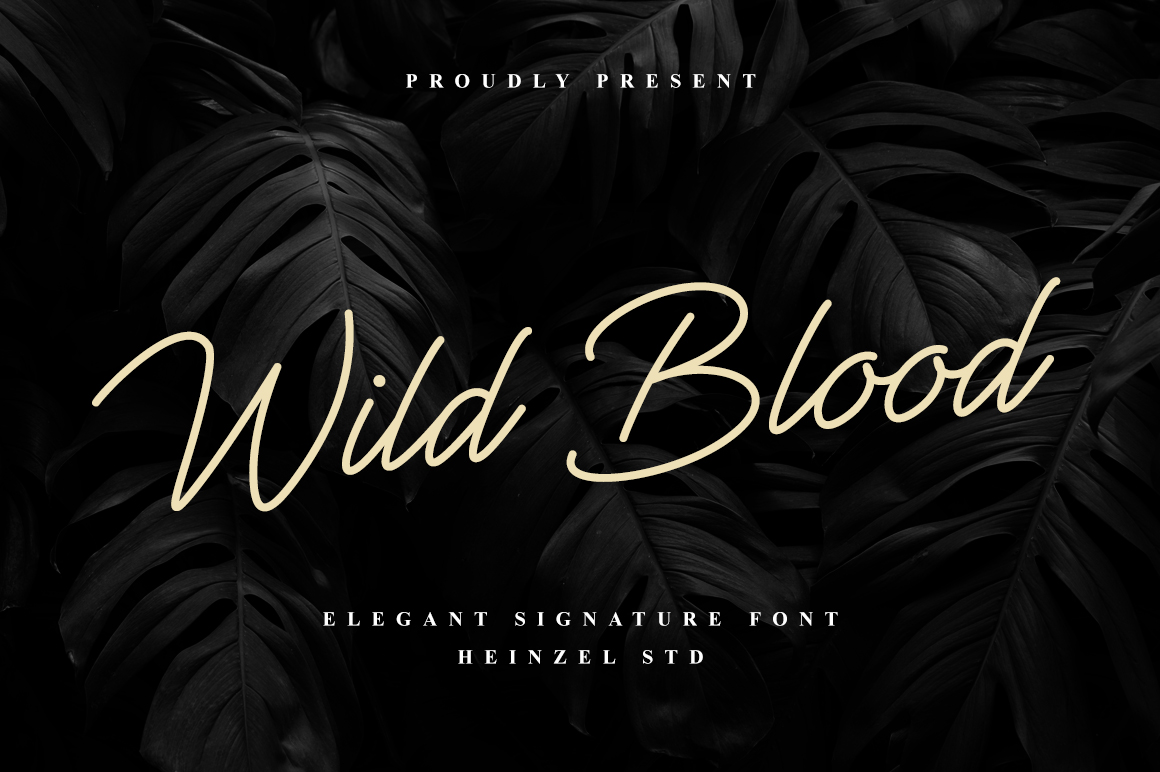 Wild Blood in Handwriting Fonts