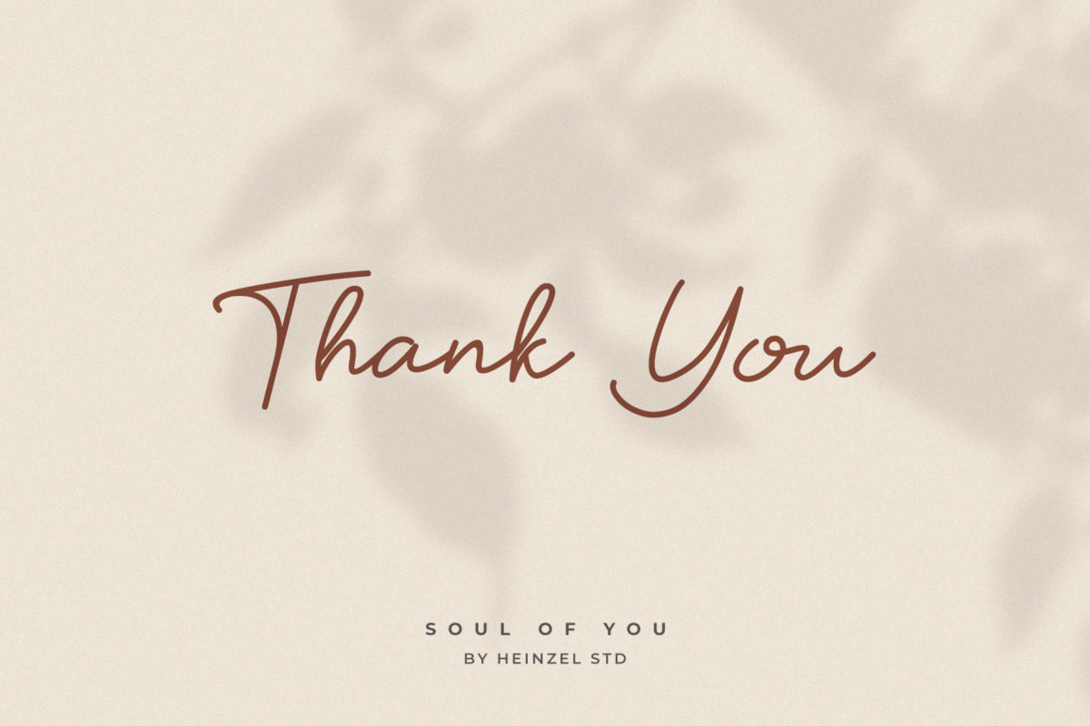 Soul Of You in Handwriting Fonts