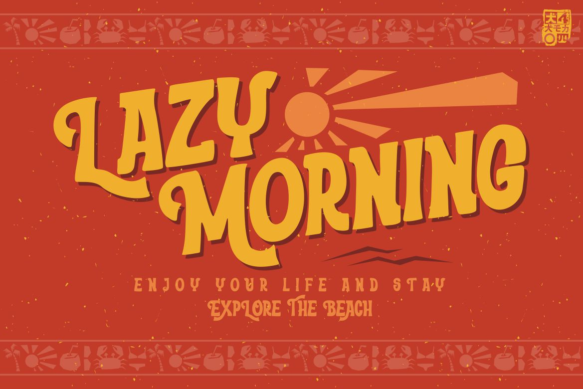 Morning Beach in Display Fonts
