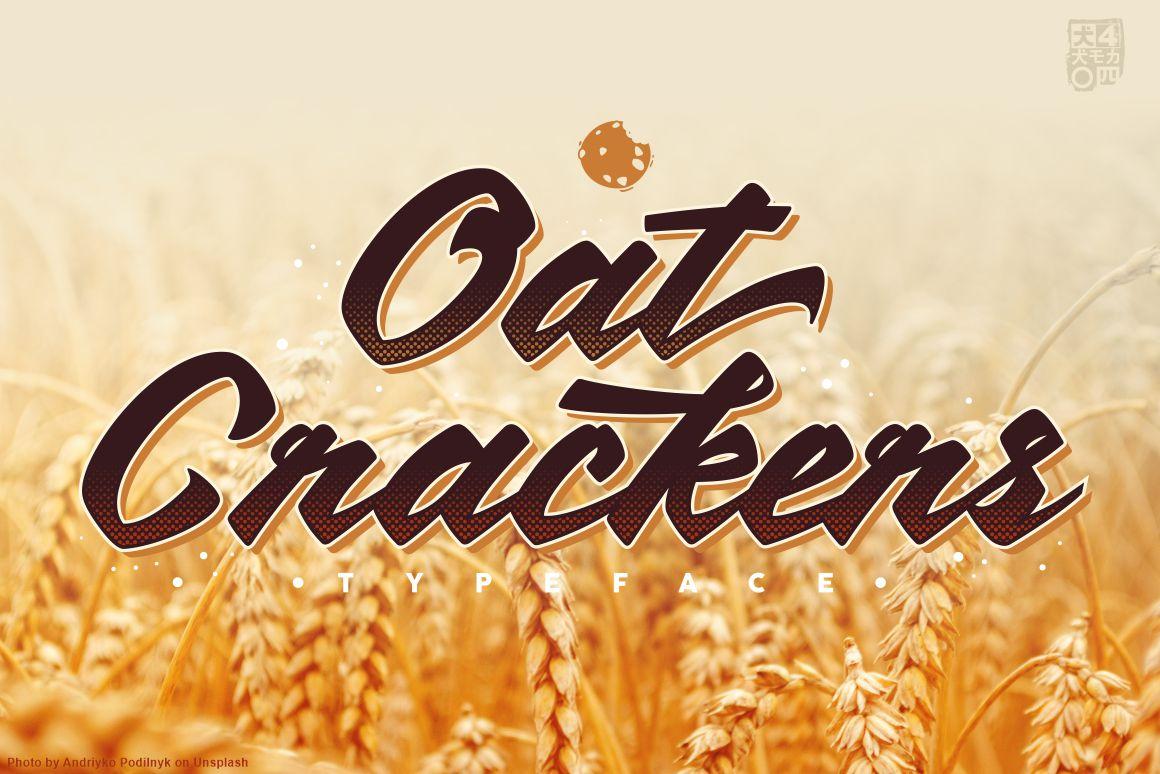 OatCrackers v.01 in Script Fonts