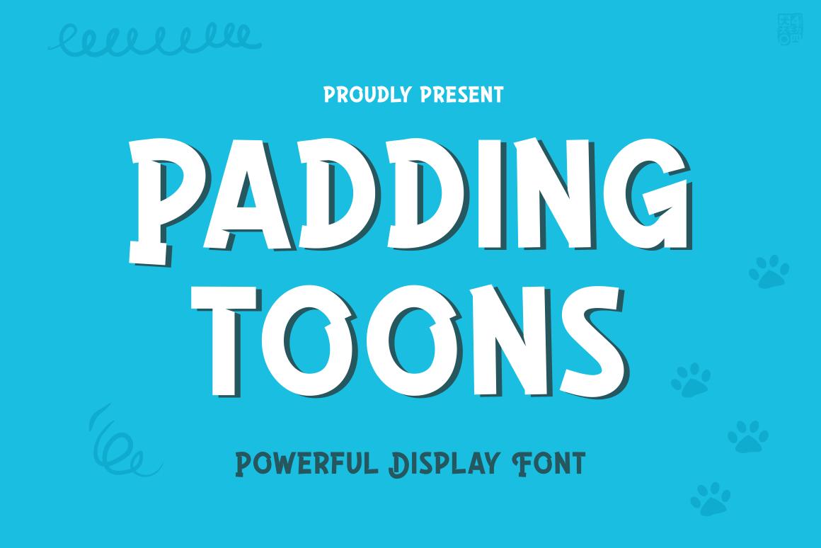 PADDINGTOONS in Display Fonts