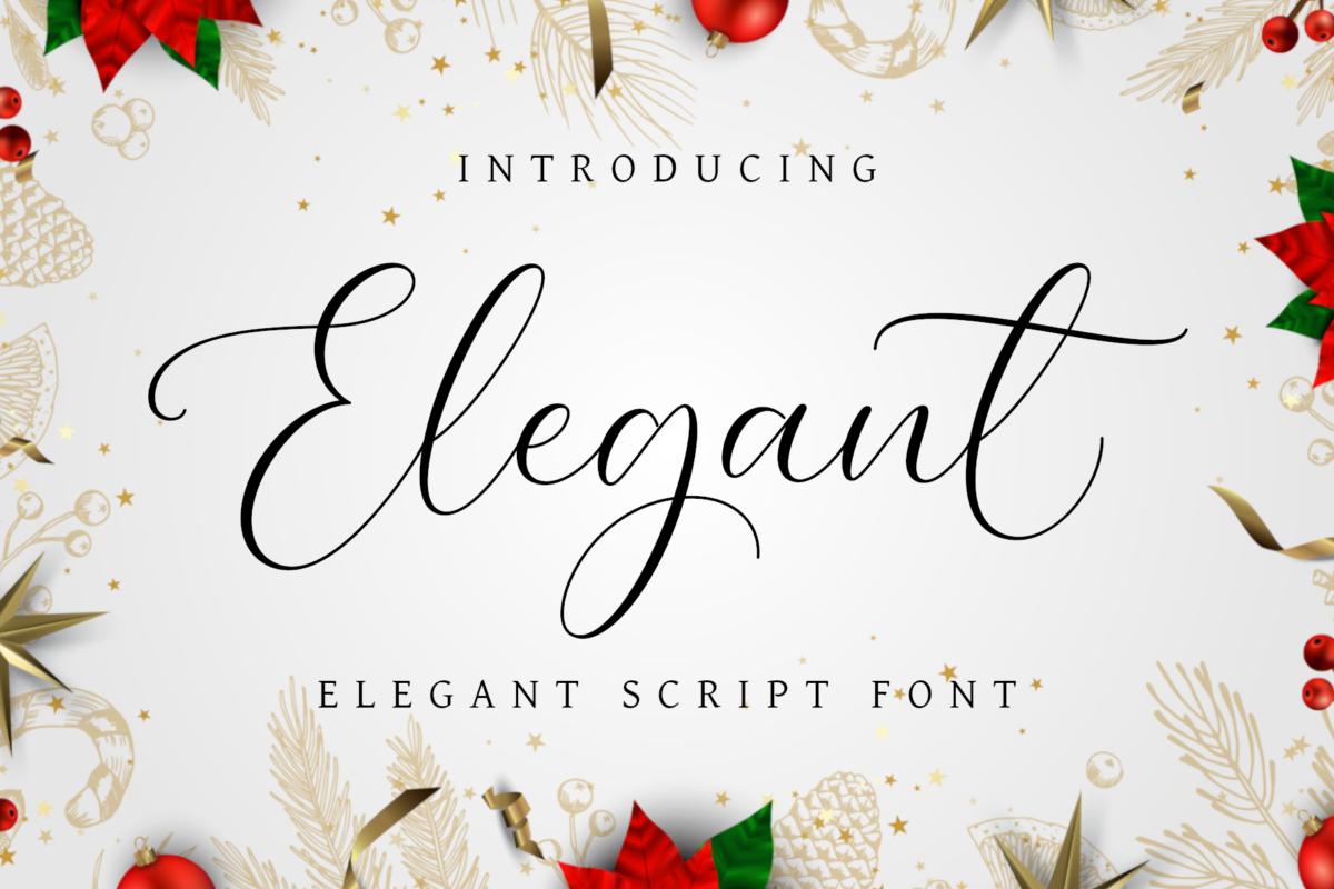 Elegant Font in Script Fonts
