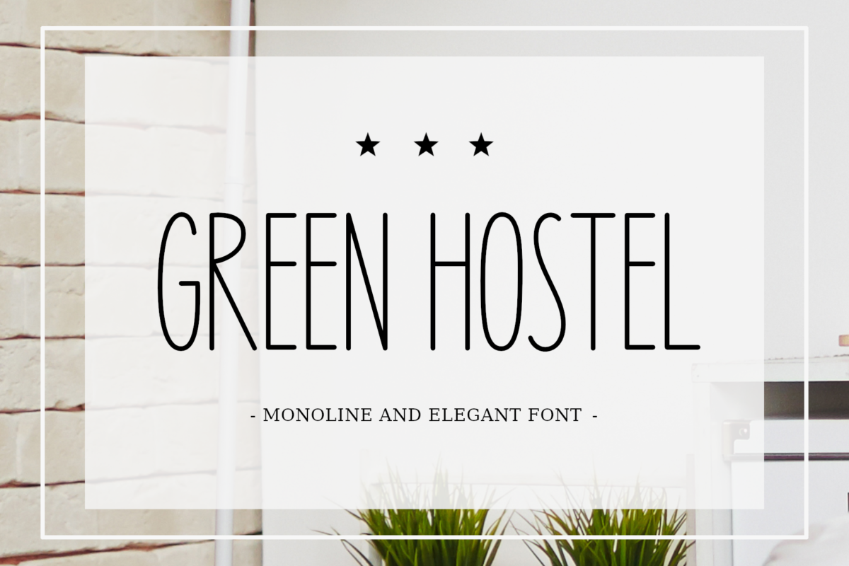 Green Hostel Font in Handwriting Fonts
