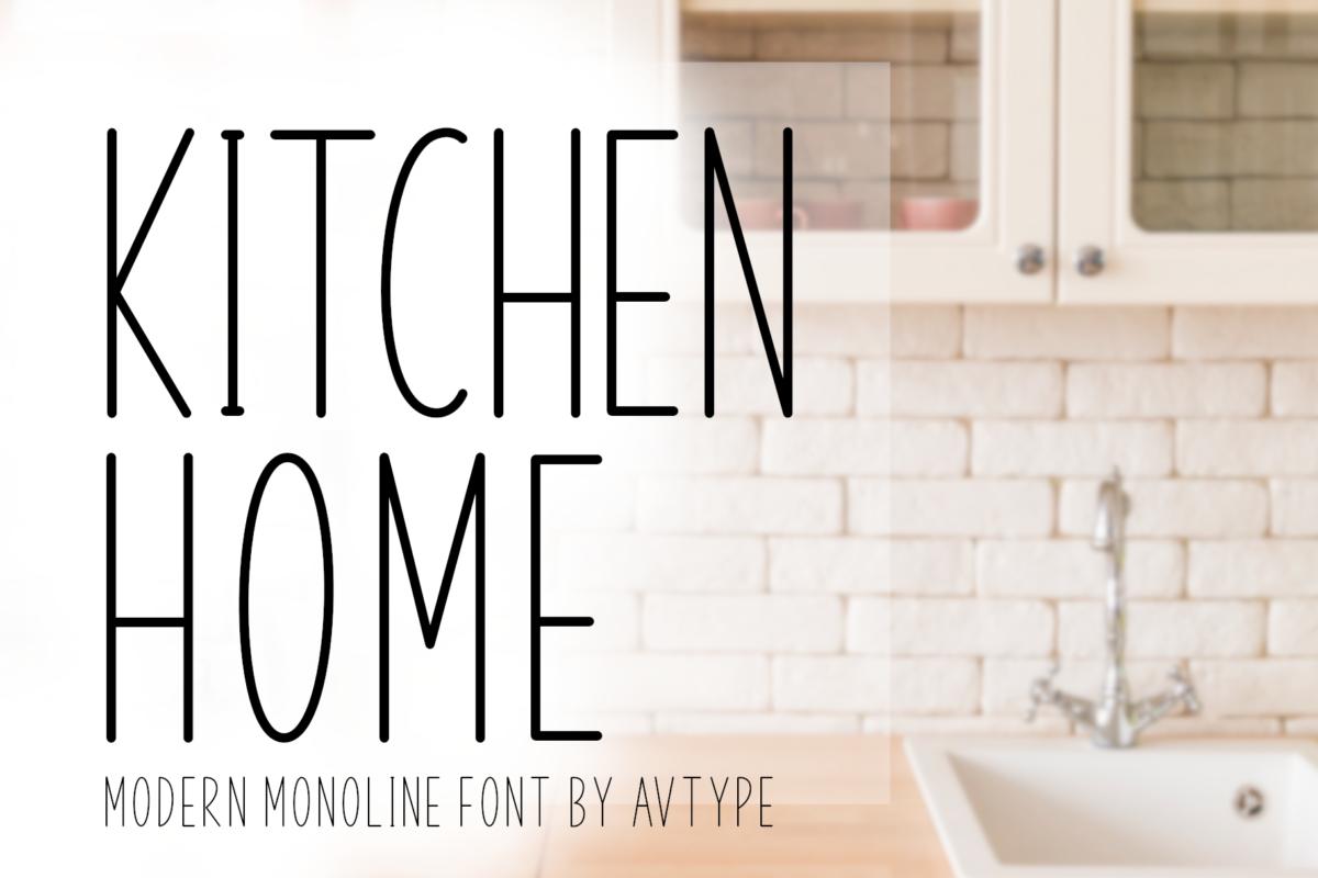 Kitchen Home Font in Sans Serif Fonts