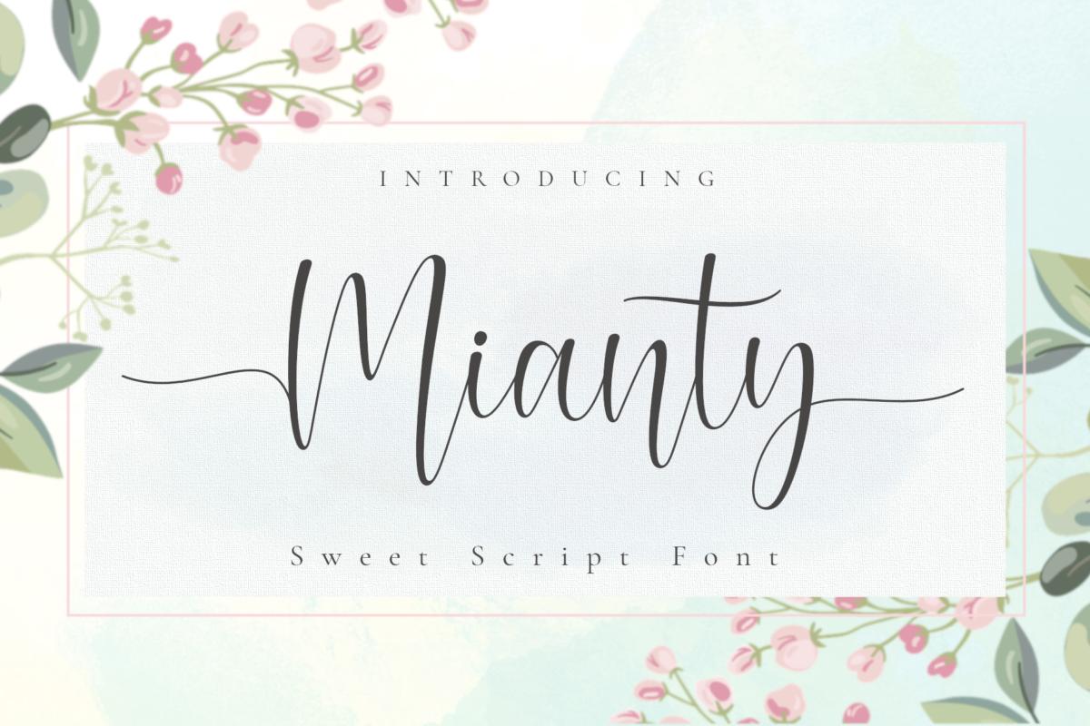 Mianty Font in Script Fonts