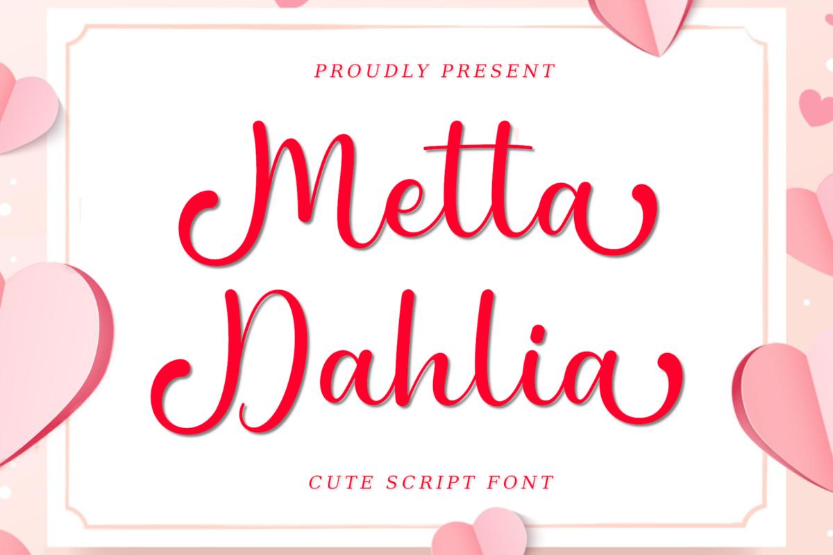 Metta Dahlia Font in Script Fonts