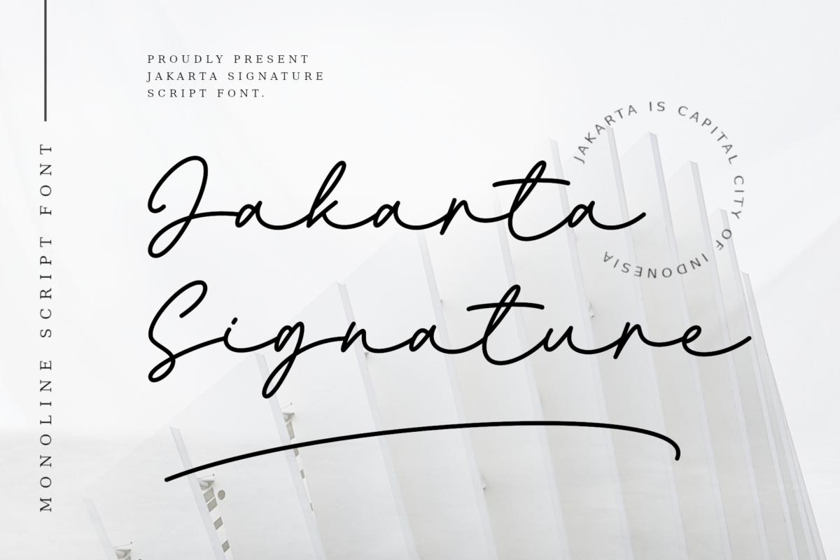 Jakarta Signature Font in Script Fonts