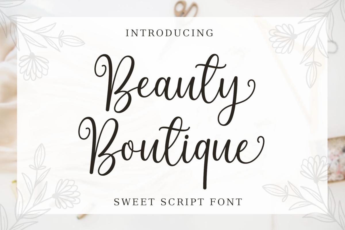 Beauty Boutique Font in Script Fonts
