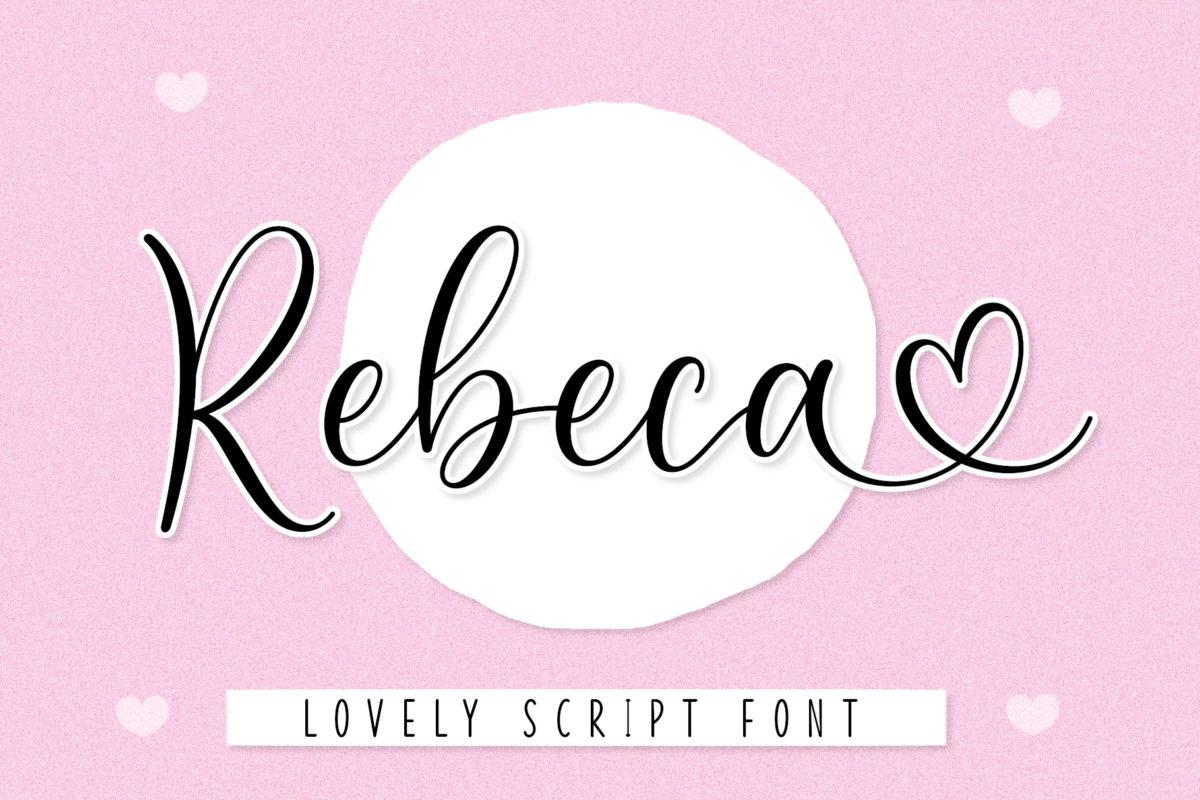 Rebeca Font in Script Fonts