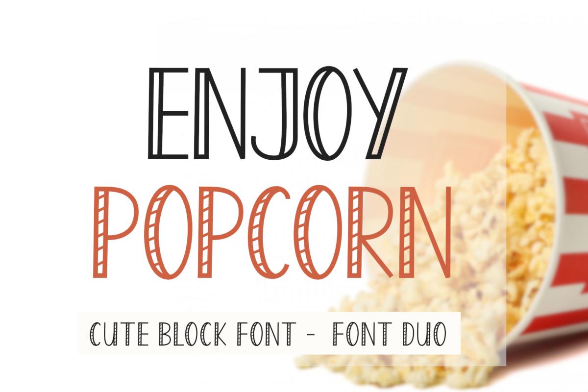 Enjoy Popcorn Font in Display Fonts
