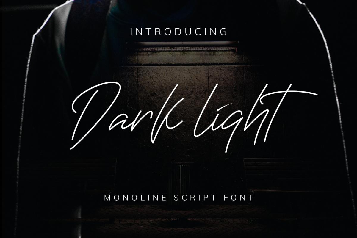Darklight Font in Script Fonts