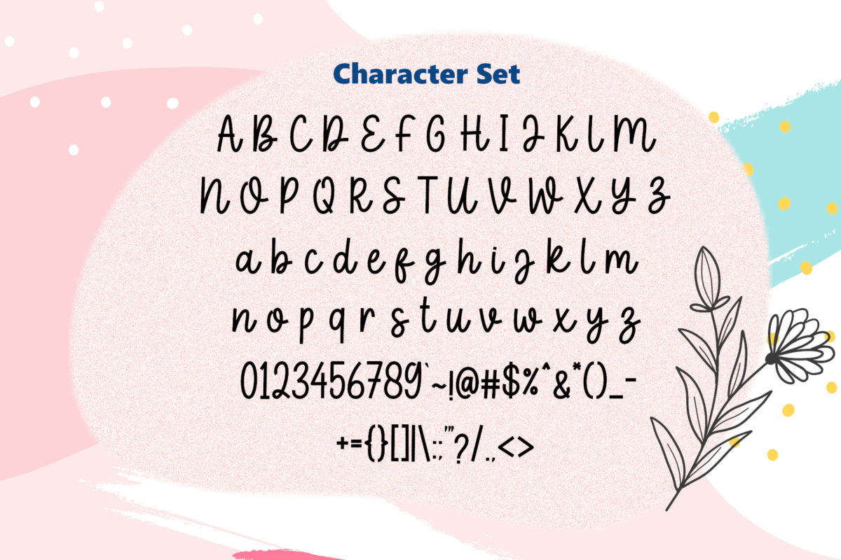 Pinky Spring Font in Script Fonts
