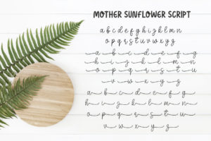 Mother Sunflower Font in Display Fonts