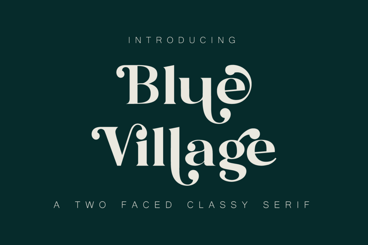 Blue Village - Modern / Vintage Serif Font in Serif Fonts