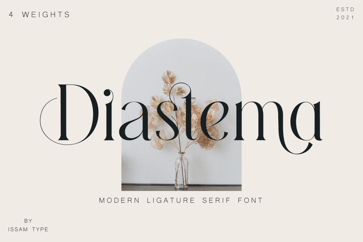 Diastema - Modern Ligature Typeface in Serif Fonts