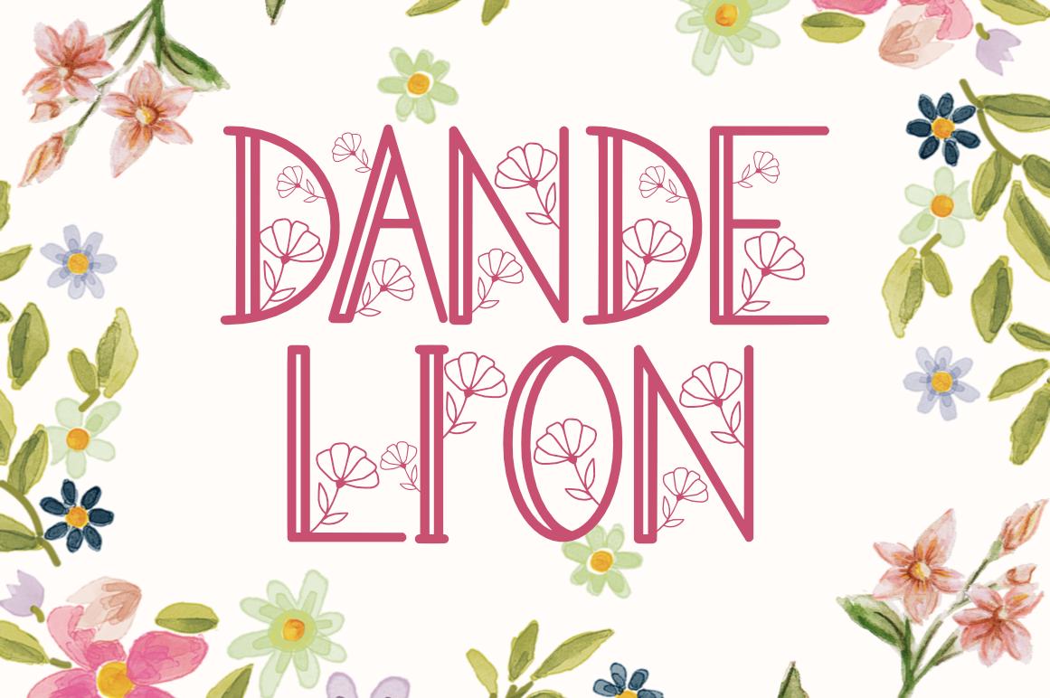 Dandelion in Decorative Fonts