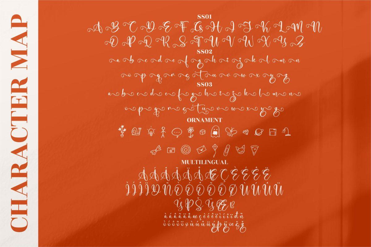 Marliana Alisha - Beautiful Ornament Font in Calligraphy Fonts