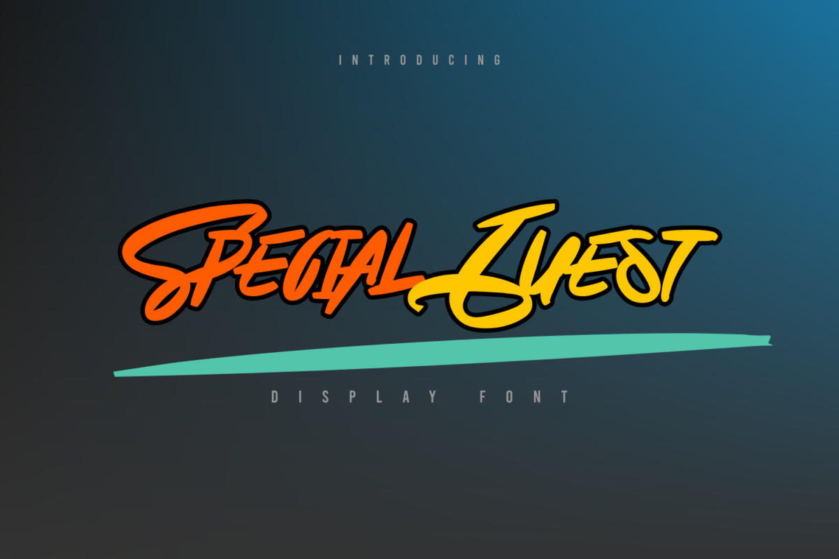 Special Guest in Display Fonts