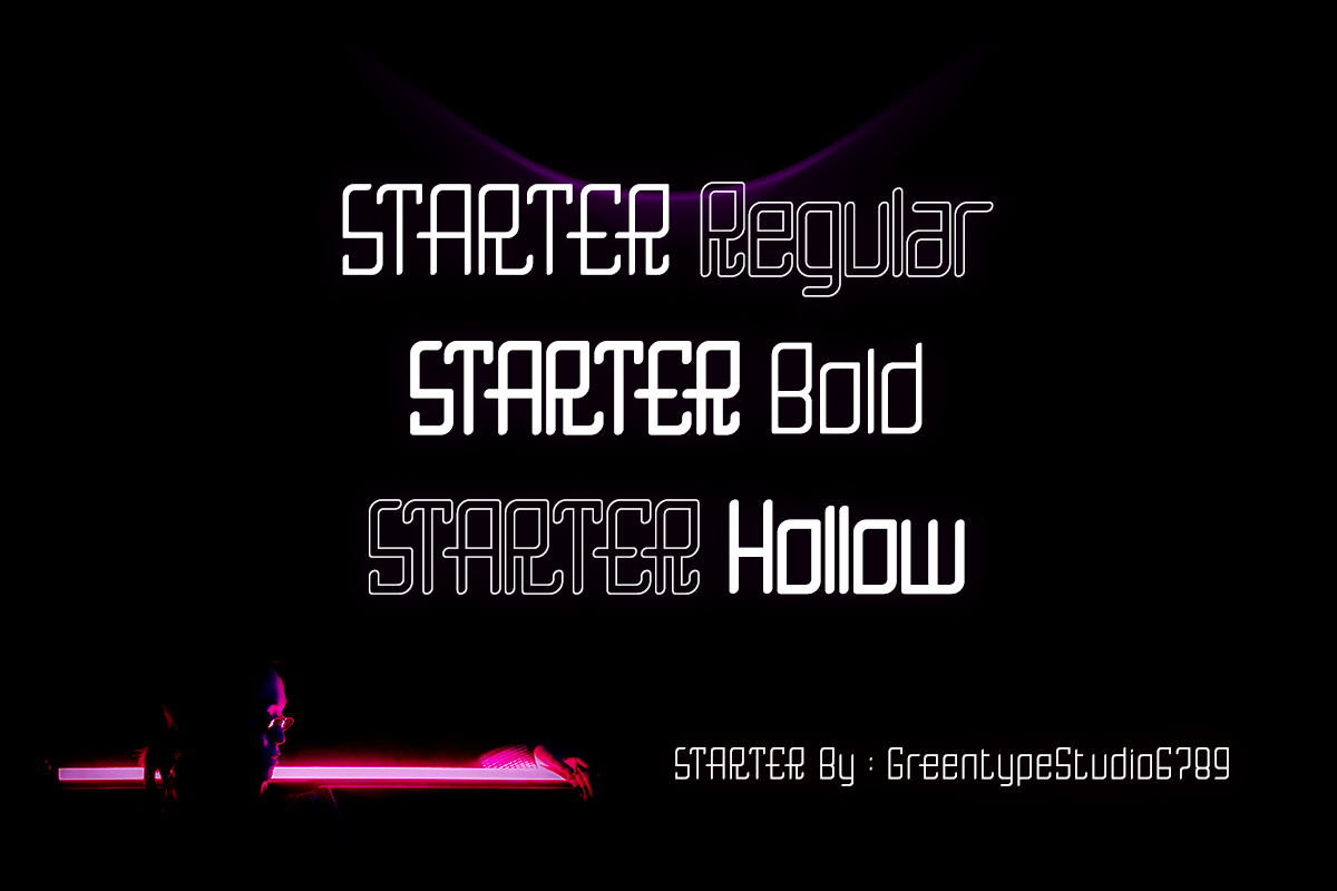 starter in Display Fonts