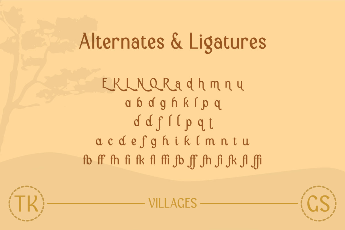 Villages in Display Fonts