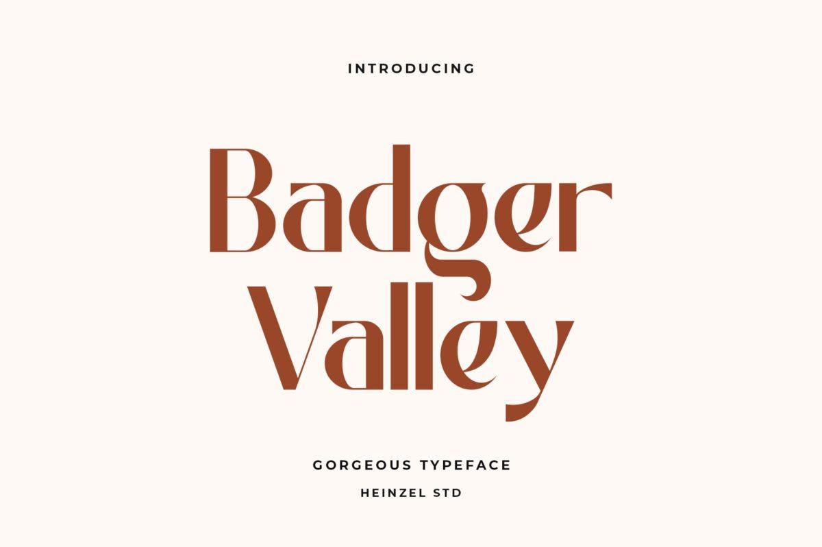 Badger Valley in Sans Serif Fonts