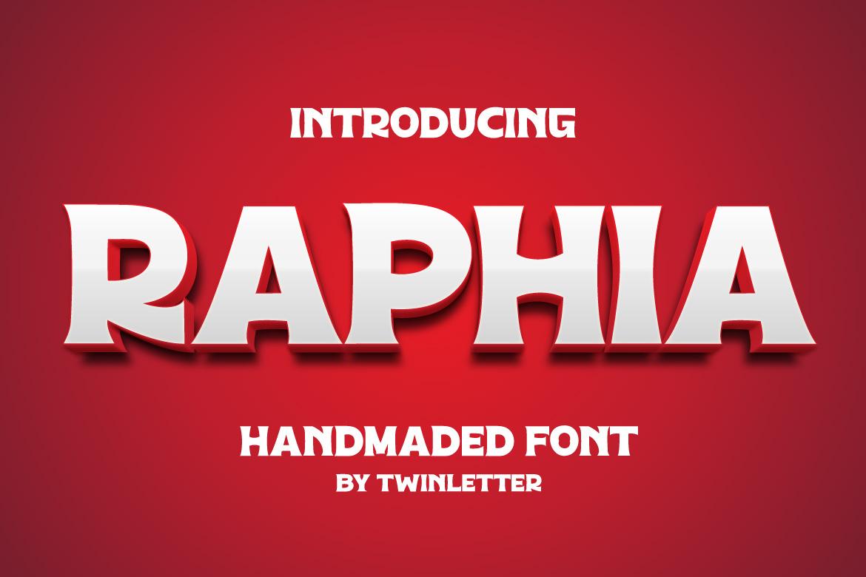Raphia in Display Fonts