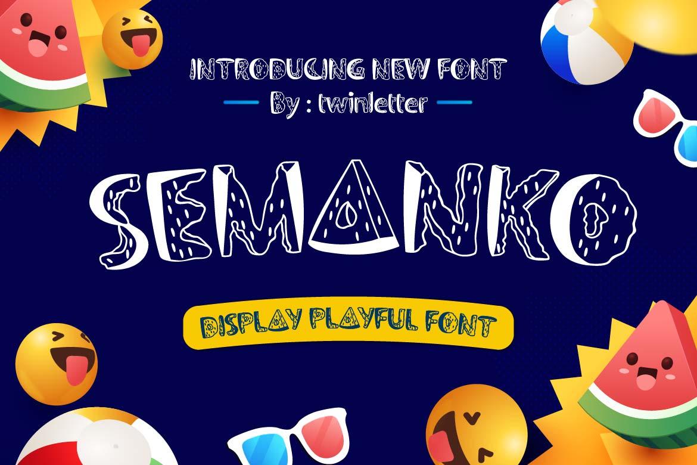 Semanko in Display Fonts