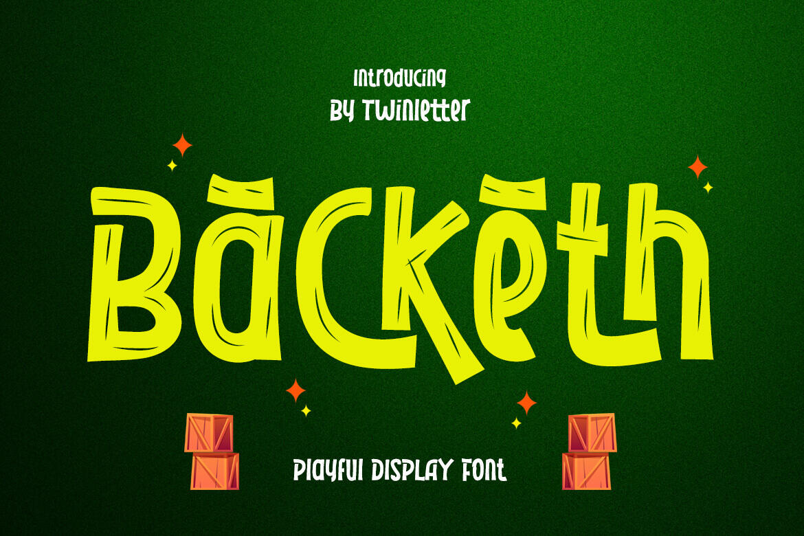 Backeth in Display Fonts