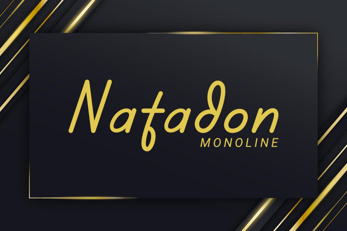 Natadon - Monoline Font in Display Fonts