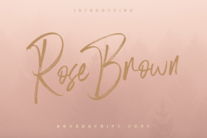 Rose Brown Brush Font in Script Fonts