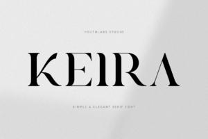 Keira Serif - Simple Font in Serif Fonts