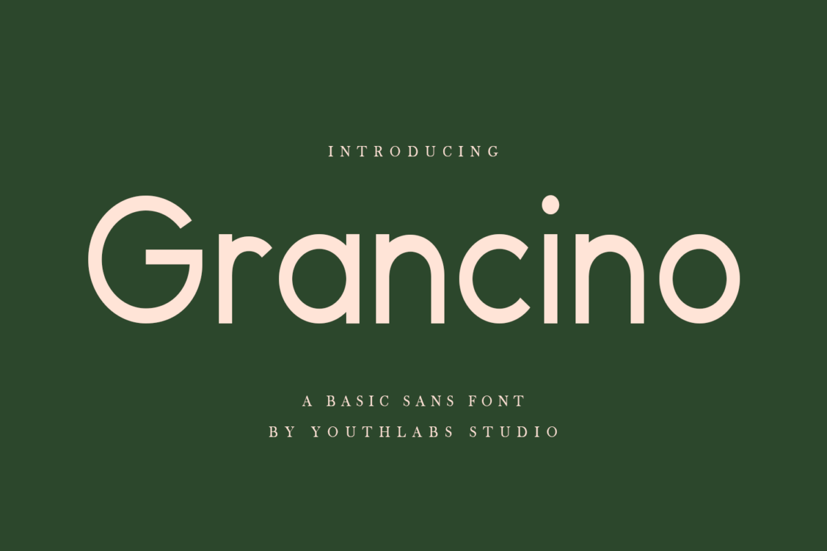 Grancino - Modern Sans in Display Fonts