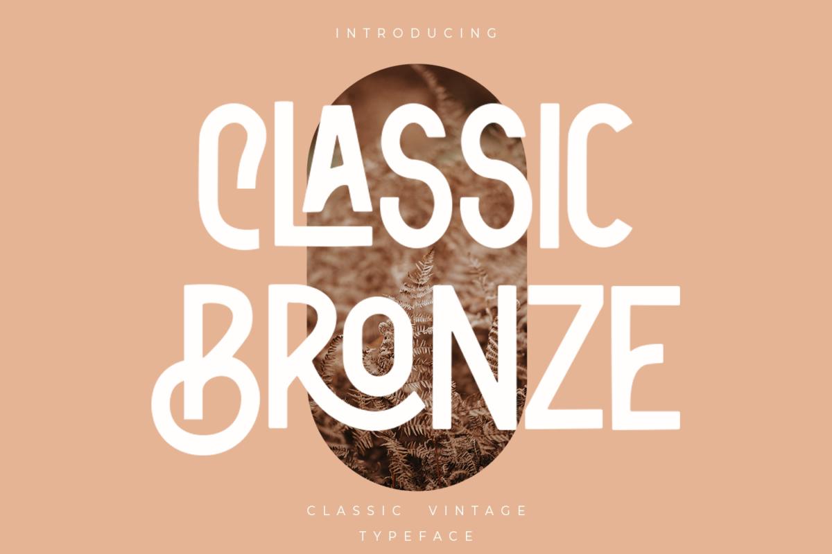 Classic Bronze - Vintage Sans in Sans Serif Fonts