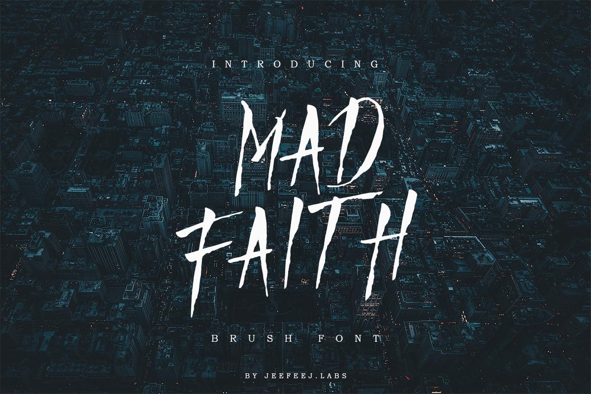 Mad Faith - Brush Font in Brush Fonts