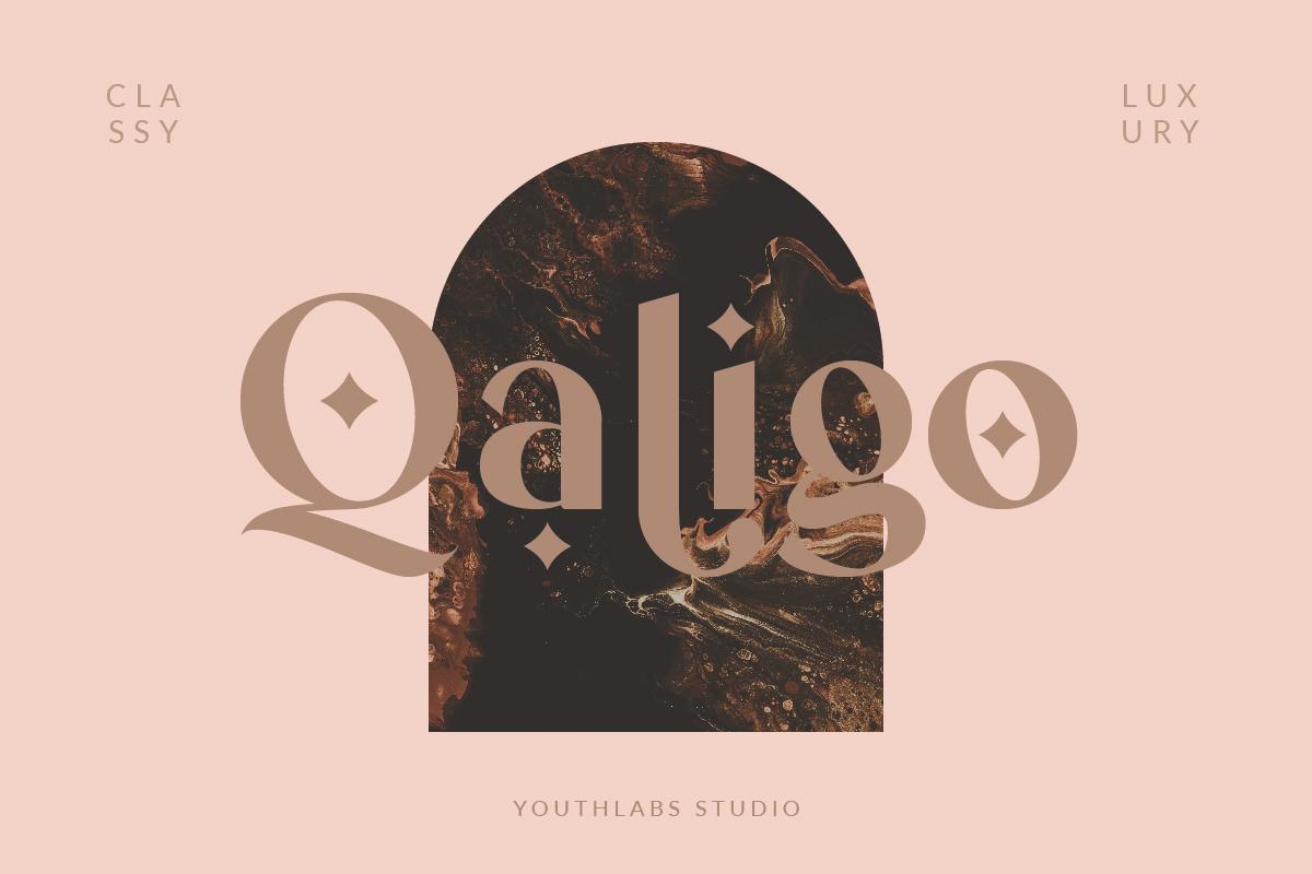 Qaligo Sans - Elegant Font in Display Fonts