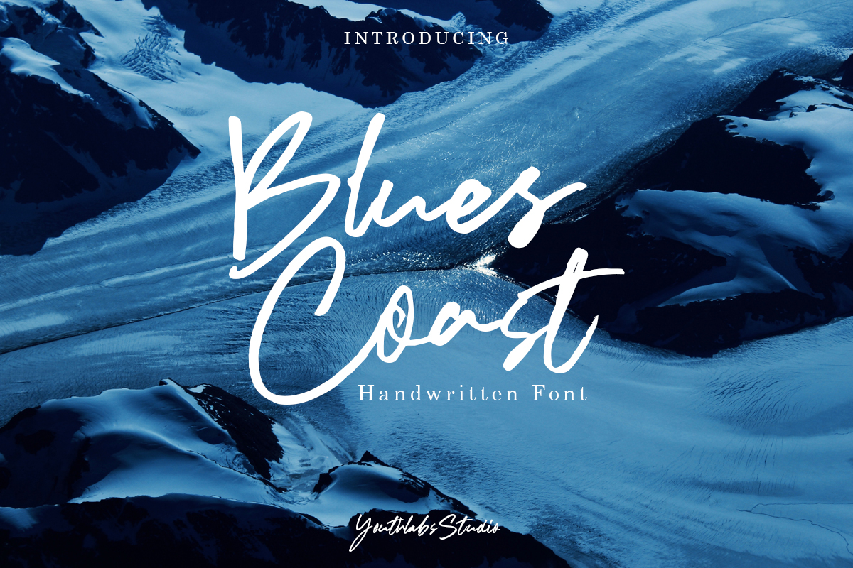 Blues Coast - Handwritten Font in Brush Fonts
