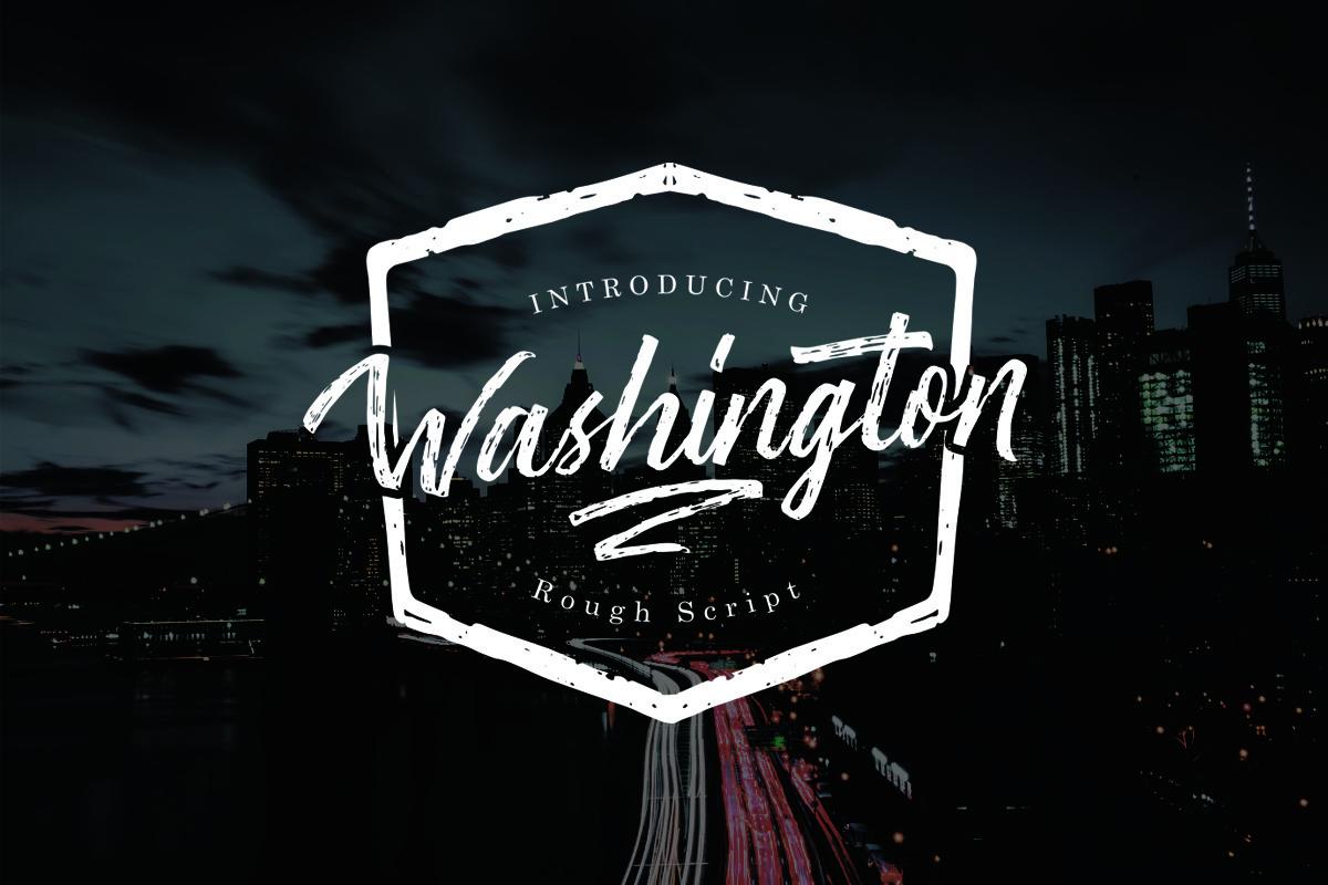 Washington - Rough Script in Script Fonts