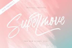 Supermove - Brush Script in Script Fonts