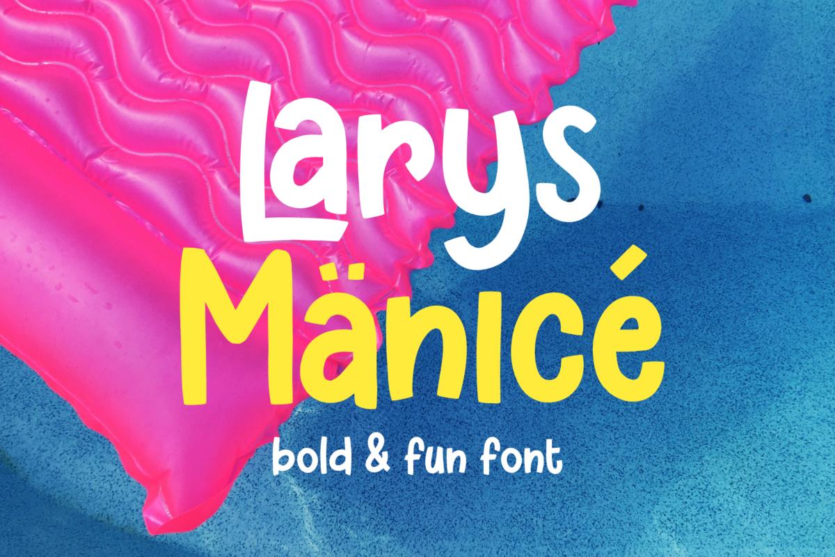 Larys Manice - Fun Font in Brush Fonts