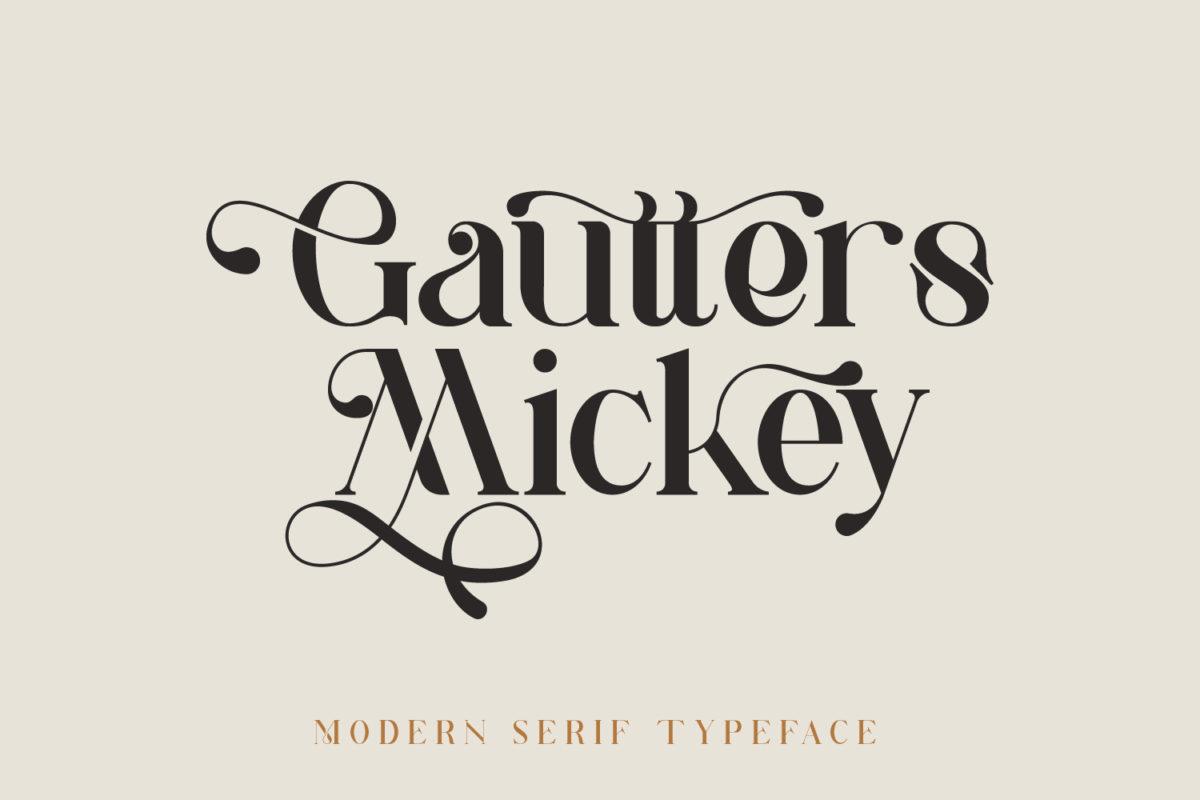 Gautters Mickey in Serif Fonts