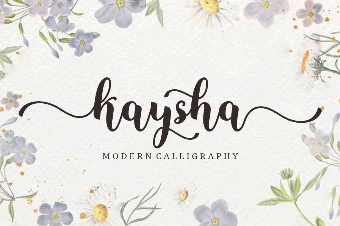 Kaysha in Calligraphy Fonts