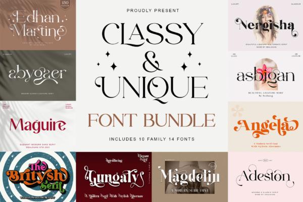 Bundles in Fonts